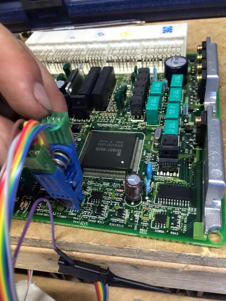 image of a car computer being reprogrammed