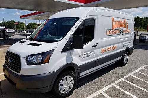 image of Campbell's Locksmith Company locksmith van